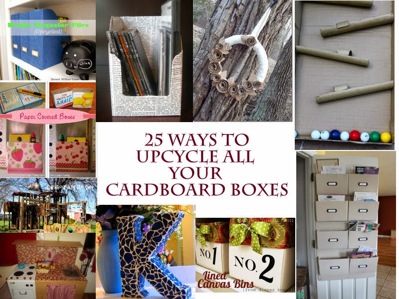 ways to reuse cardboard boxes