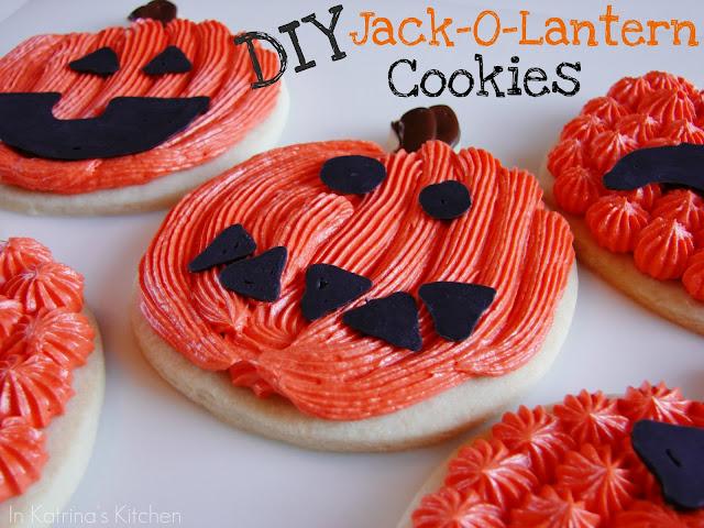 DIY Jack-O-Lantern Cookies @katrinaskitchen
