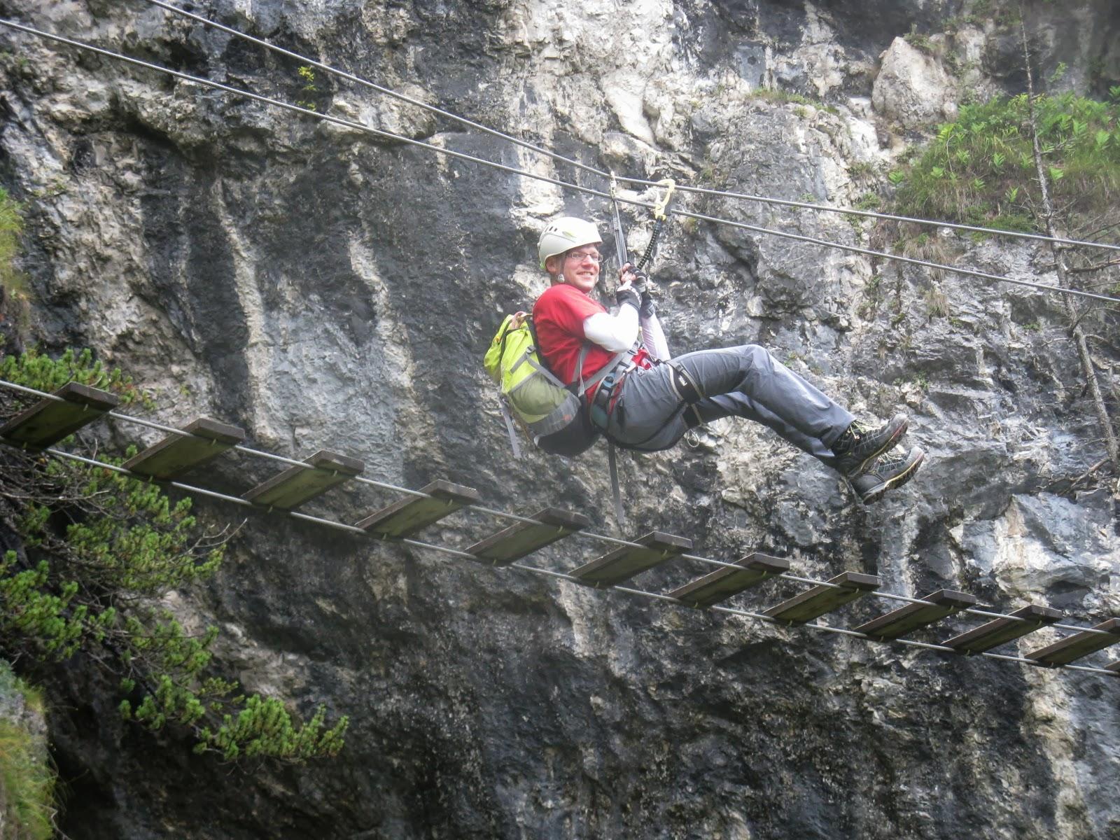 Klettersteig Intersport : Grünstein klettersteig variante isidor c und intersport