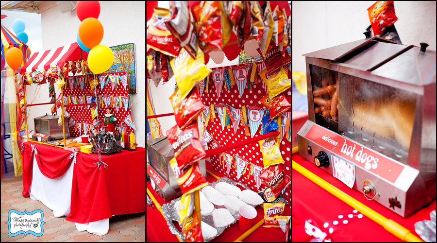 Kara 39 s party ideas circus time birthday party - Carnival party menu ...