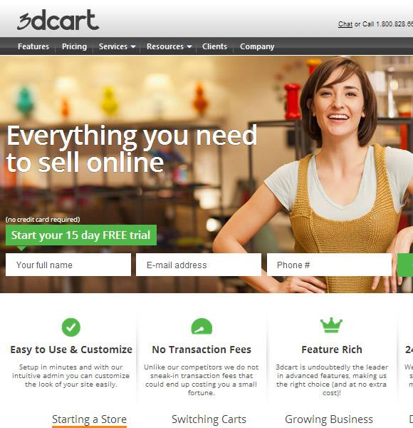 Ecommerce Website Name : 3DCart