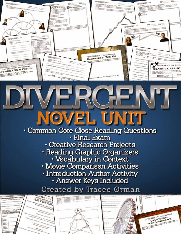 Divergent by Veronica Roth Teaching Unit