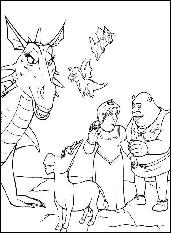 Láminas para Colorear - Coloring Pages: Shrek para dibujar y pintar
