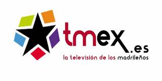 Logo de la televisión online tmex, la televisión de los madrileños