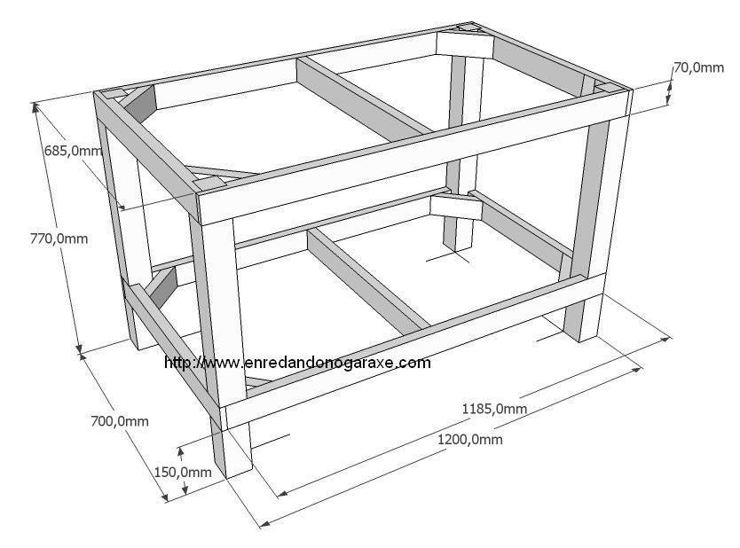 Sierra de mesa hecha con sierra circular - Enredando No Garaxe