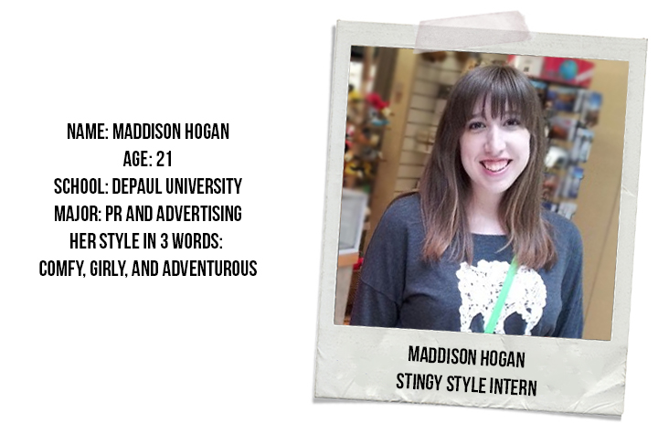 Maddison Hogan, Stingy Style Intern