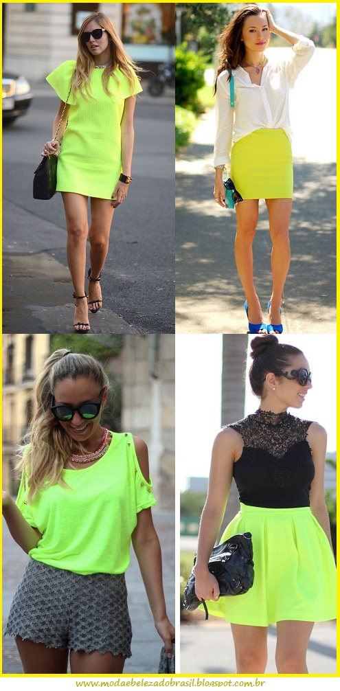 looks neon verde limão