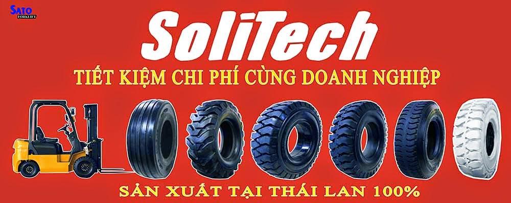Solitech Thái Lan Bánh đặc xe nâng
