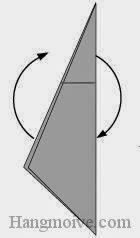 Bước 5: Xoay tờ giấy.