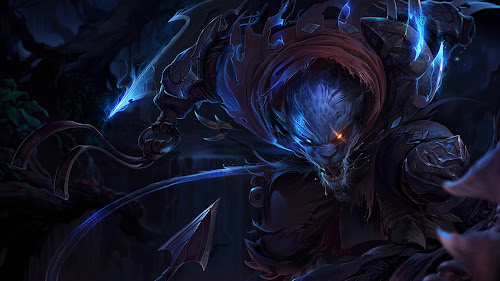 night hunter rengar champion skin splash art league of legends