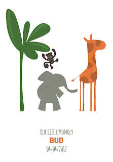 Vertbaudet Personalised Posters in Jungle Theme for a babies nursery