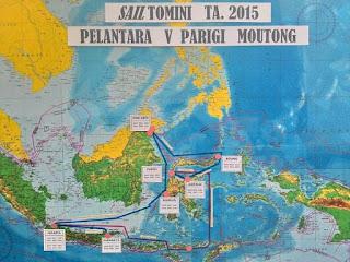 Rute pelayaran dalam Pelantara V Tahun 2015