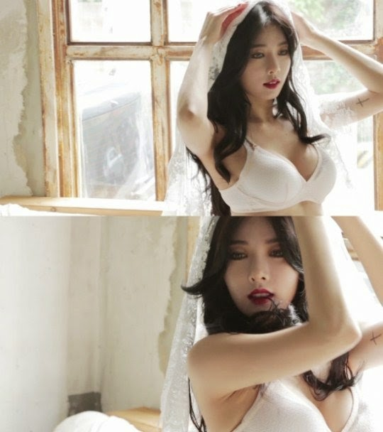 HyunA releases sexy BTS for 'Red' pictorial