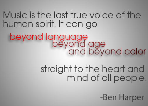 Ben Harper Music quote