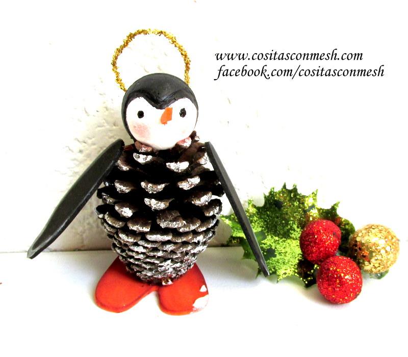 C mo hacer adornos navide os con pi as paso a paso cositasconmesh - Adornos navidenos con pinas ...