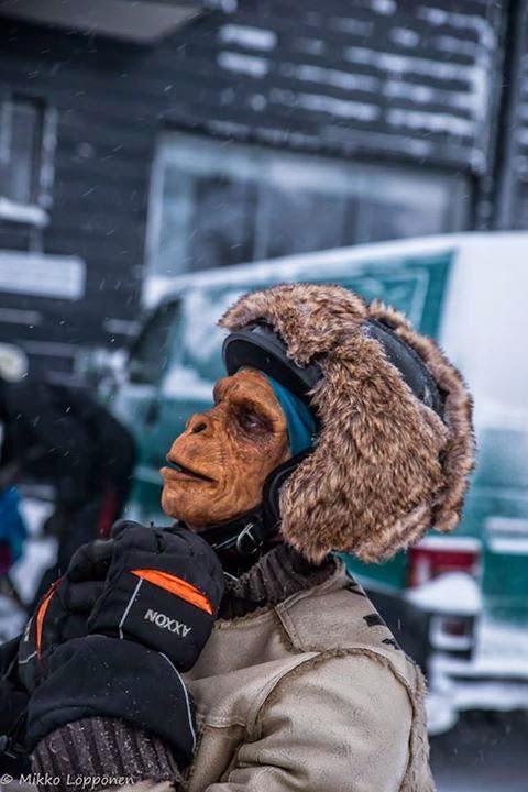 Mopo-apina (StuntFreaksTeam), tehostemaskeeraus: Ari Savonen.