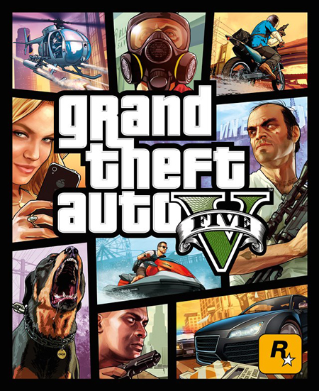 Portada oficial de Grand Theft Auto V