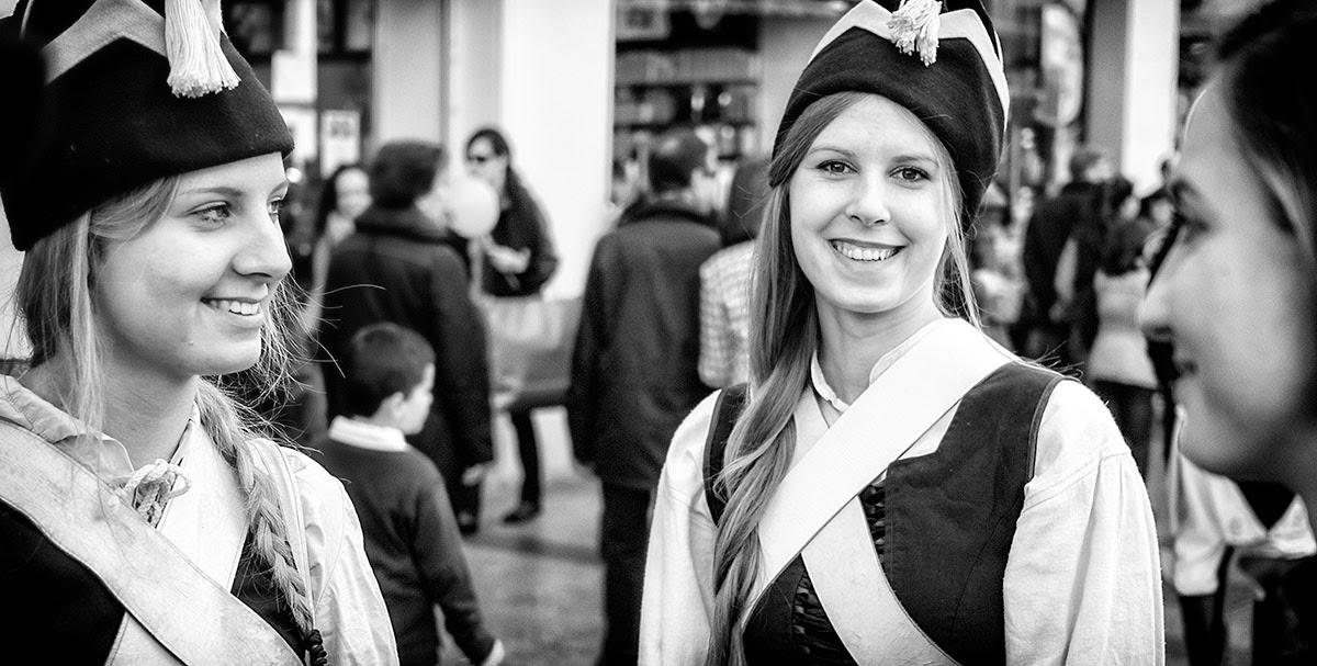 Los sitios de Zaragoza - III Recreación de los Sitios de Zaragoza 2015 (Blanco y Negro - B&N - Street Photo Zaragoza)
