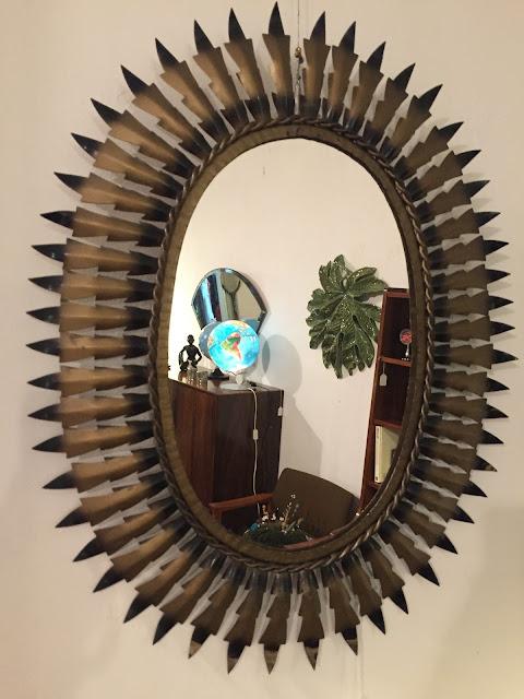 espelho sol, decoração vintage