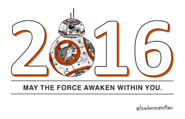 BB-8 Happy New Year 2016 Star Wars Style