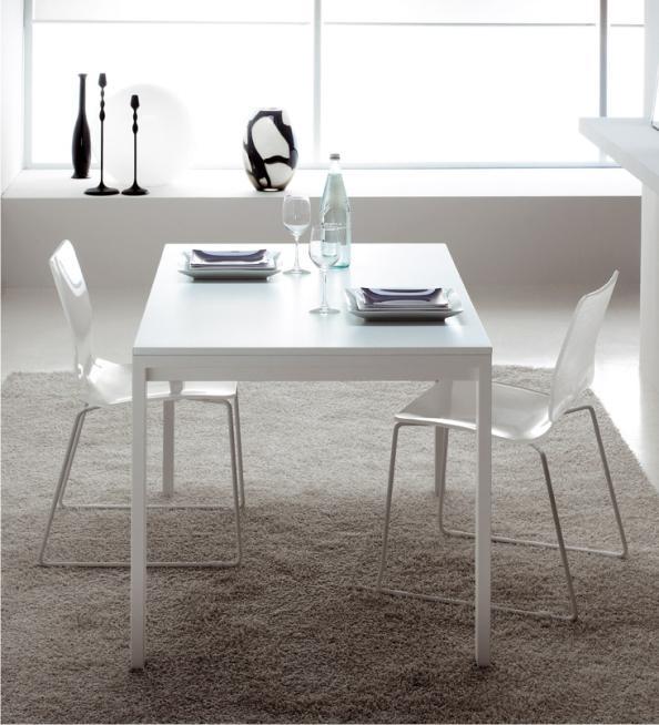 Mesa cocina punto cristal elegante extensible