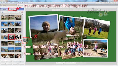 add more photos into a collage in picasa