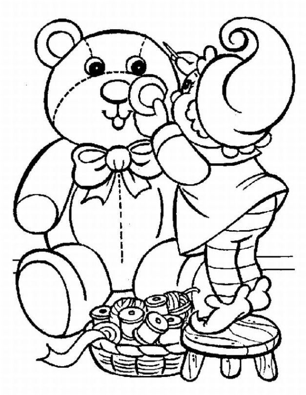 Printable Kids Christmas Coloring Pages