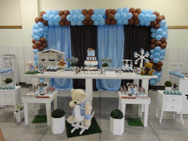 decoracao festa urso azul e marrom:Gláucia em arte: Festa Infantil – Tema ursinho – azul e marrom