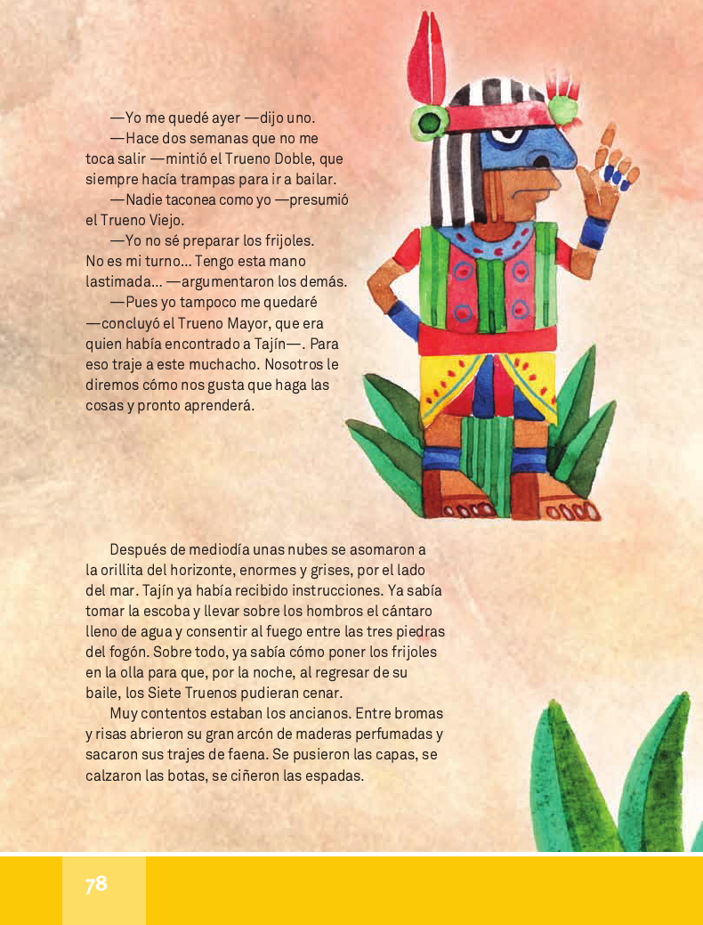 Tajín y los siete Truenos - Español Lecturas 4to 2014-2015