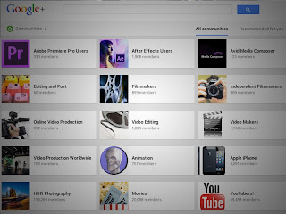 The film and video production communities for professionals on Google+.