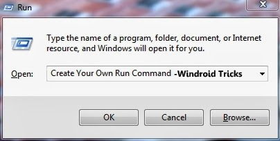 Create your own 'Run' Command