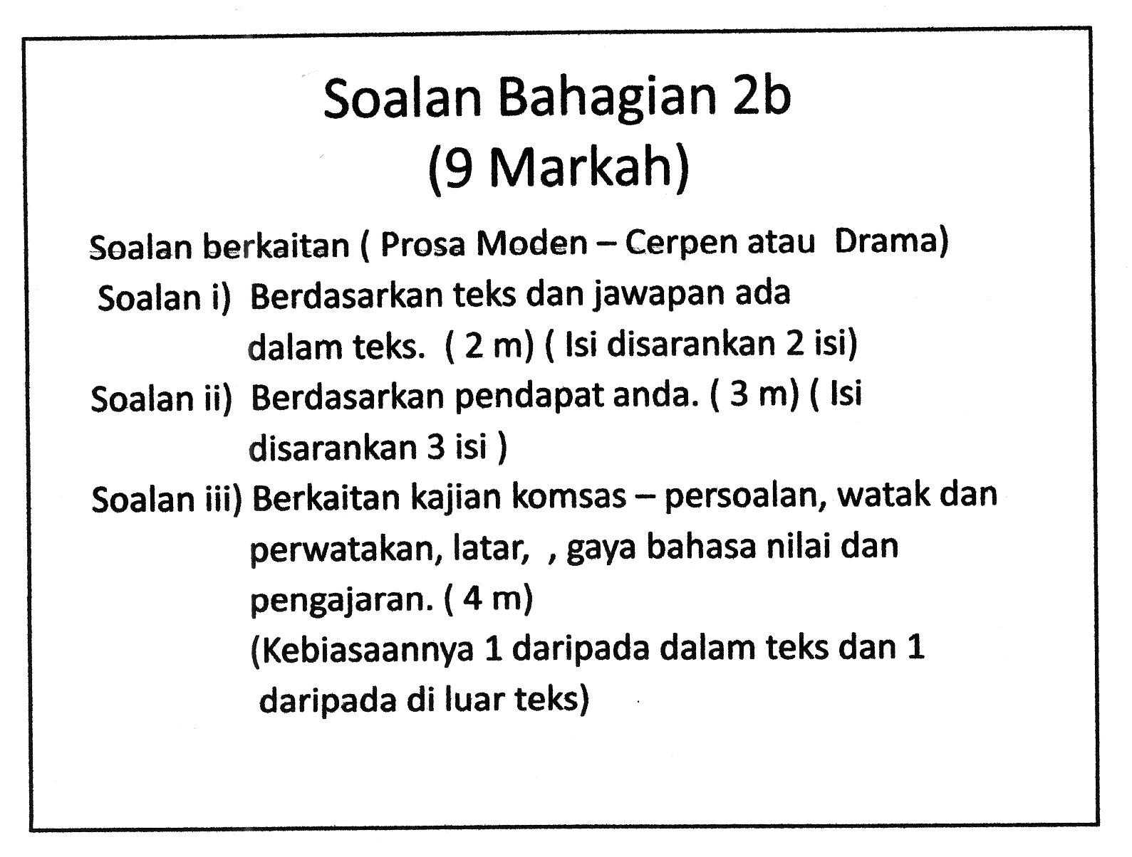 Laman Bahasa Melayu SPM: PEMAHAMAN KOMSAS ANTOLOGI TINGKATAN 4 DAN 5