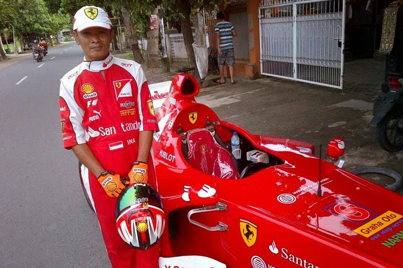 Bapak Abdul Latif, sang empu sekaligus kreator F1 ala Hi-Jet