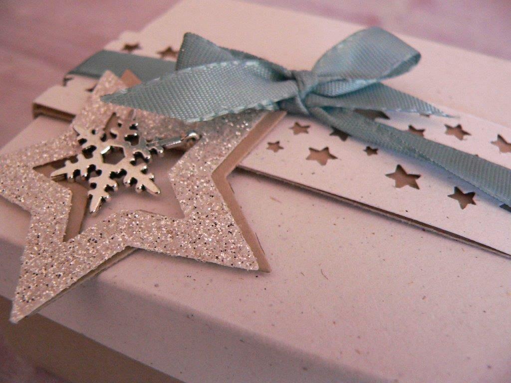 Weihnachten Geschenk Geschenkbox Sterne Box Glitzer basteln