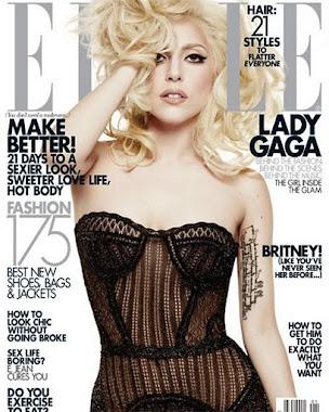 LADY GAGA ELLE MAGAZINE USA COVER