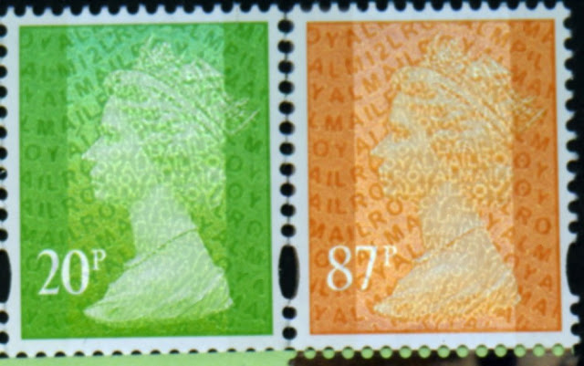 20p & 87p stamps from Dr Who PSB.