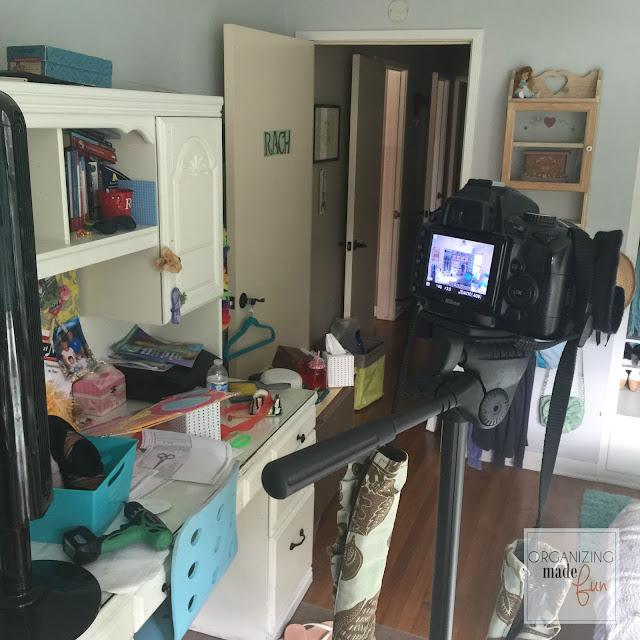 Getting a photo of Tween Girl's turquoise closet :: OrganizingMadeFun.com