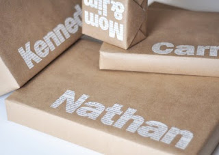 make typographic gift wrap