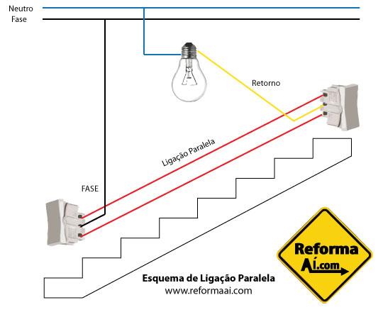 Esquema de Ligação Elétrica em Paralelo