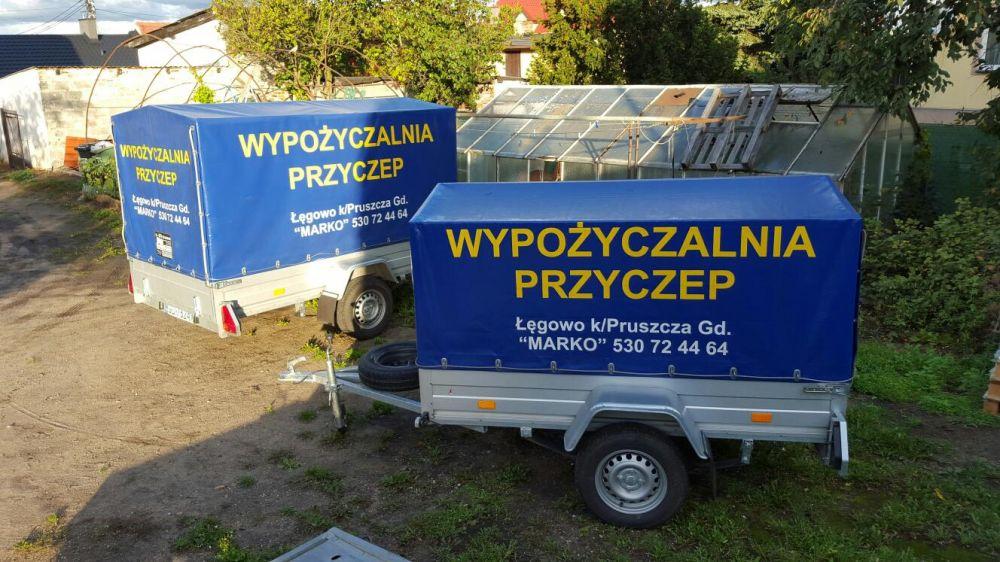 Wypożyczalnia lawet oraz przyczep- Pruszcz Gdański
