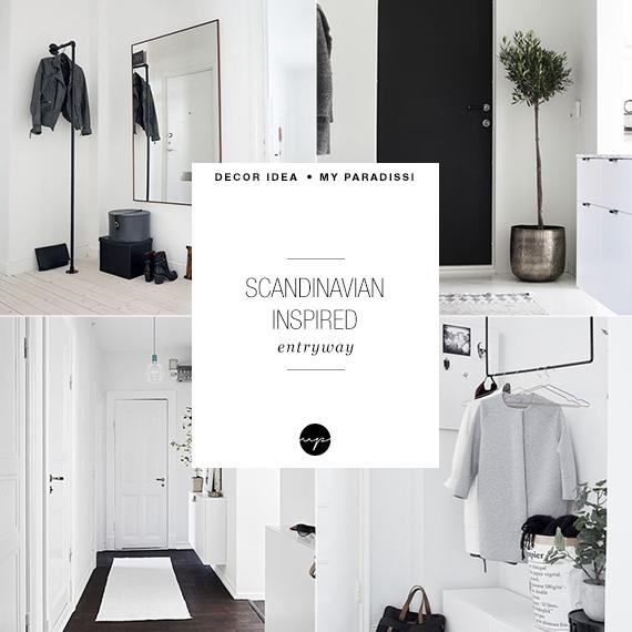 Scandinavian inspired entryway | My Paradissi
