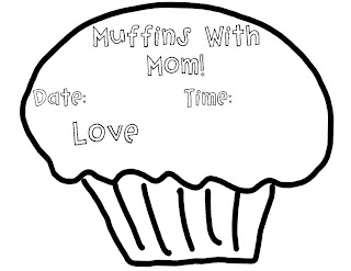 A grade one nut and her squirrelly crew muffins with mom mother 39 s day tea invite freebie - Muffins fur kindergarten ...
