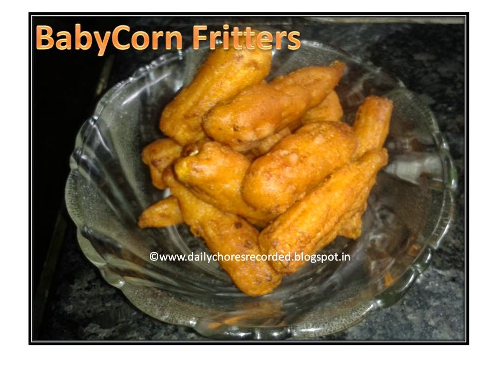 Baby Corn Fritters