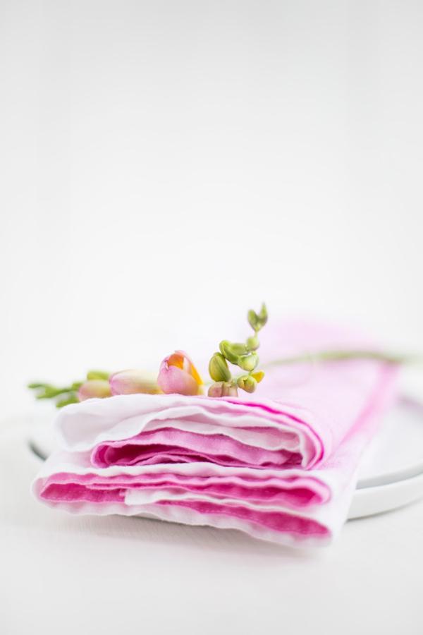 DIY Dip Dye Servietten Detail lovin