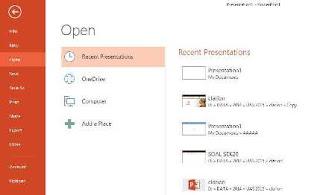 Cara Membuka File Powerpoint 2013