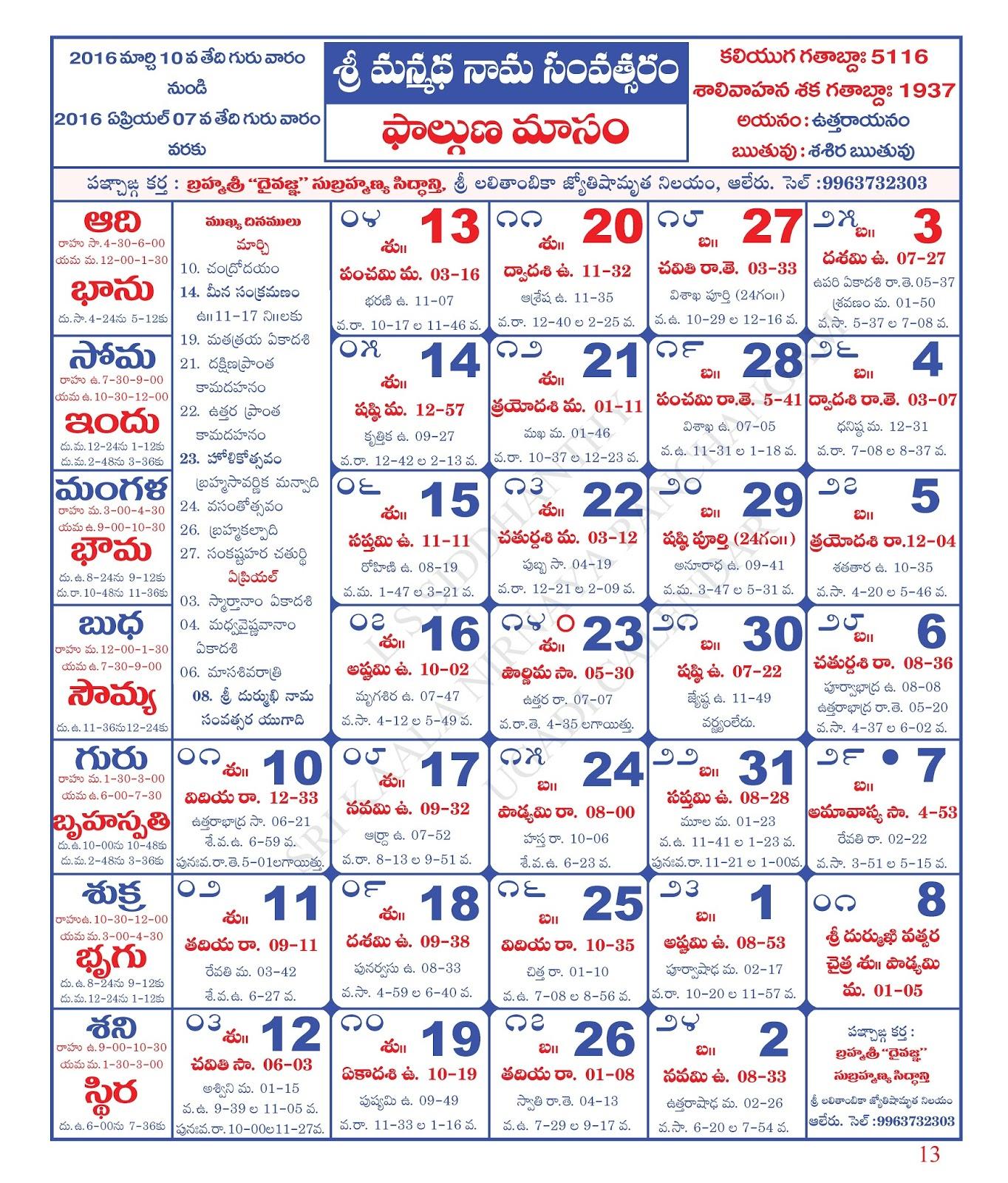 Ugadi 2014 Telugu Date Hindu Calendar Novembe...