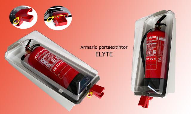 Armario extintor ELYTE en ABS para extintores de 6 y de 9/12 Kgs