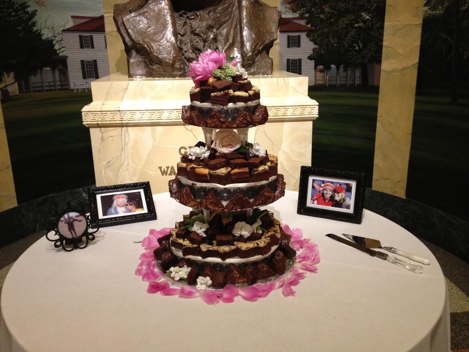 Double Column Brownie Cake Catering And Wedding Alexandria VA