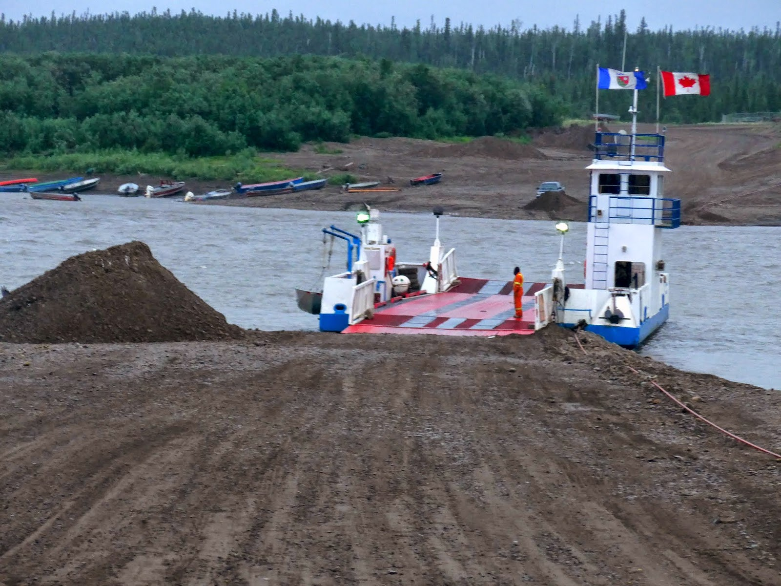 Ferry crossing over Peel River