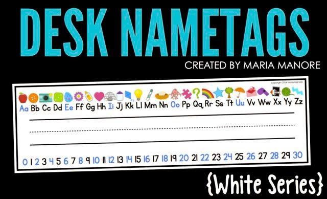 Desk Nametags White Series